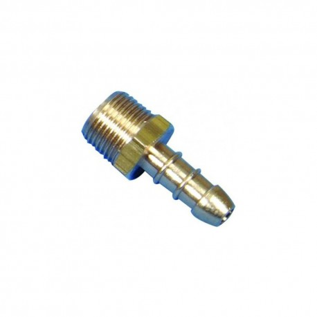 "1/2"" BSP Taper Male X 8mm LPG Hose Nozzle"