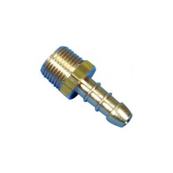 "3/8"" BSP Taper Male X 8mm LPG Hose Nozzle"