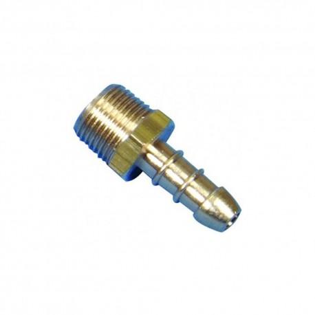 """3/8"""" BSP Taper Male X 8mm LPG Hose Nozzle"""