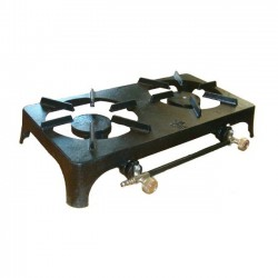 Continental Double Burner Cast Iron Stove