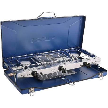 Campingaz Folding Double Burner and Grill Stove