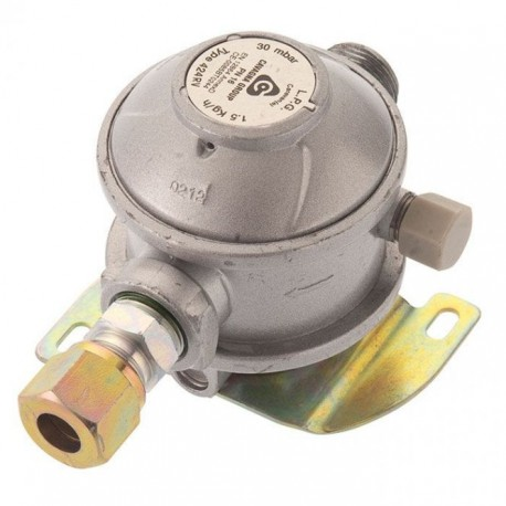Cavagna 30mbar Caravan Gas Regulator 10mm - Straight Inlet