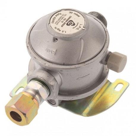Cavagna 30mbar Caravan Gas Regulator 8mm - Straight Inlet